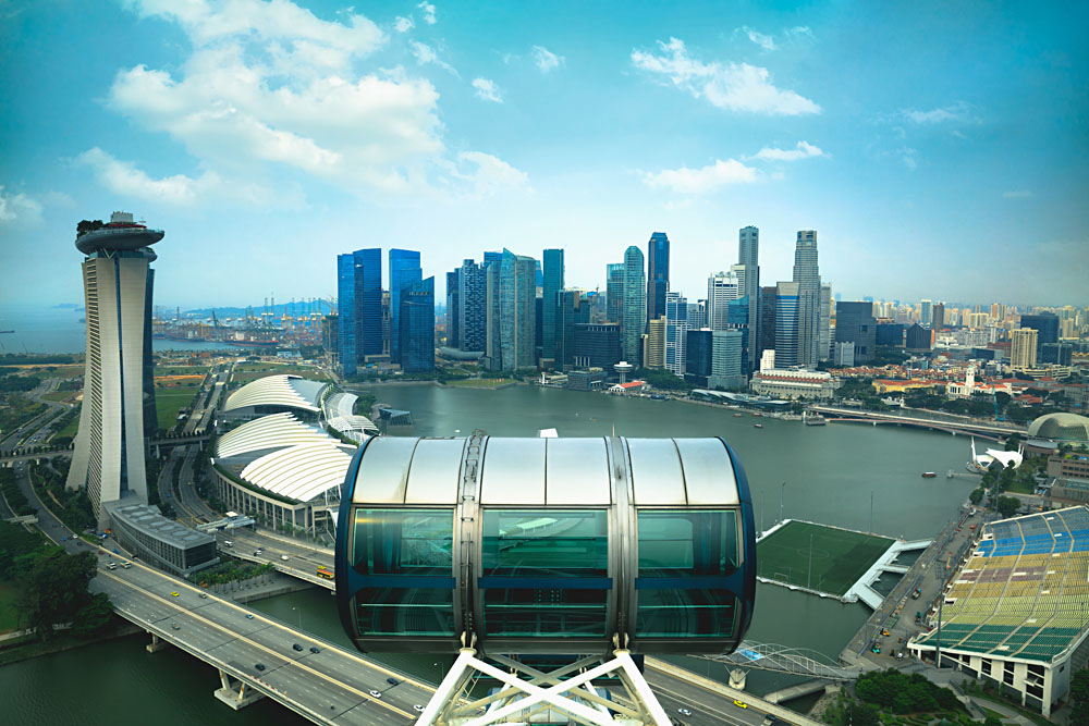 Marina Bay from top of Singapore Flyer, Singapore