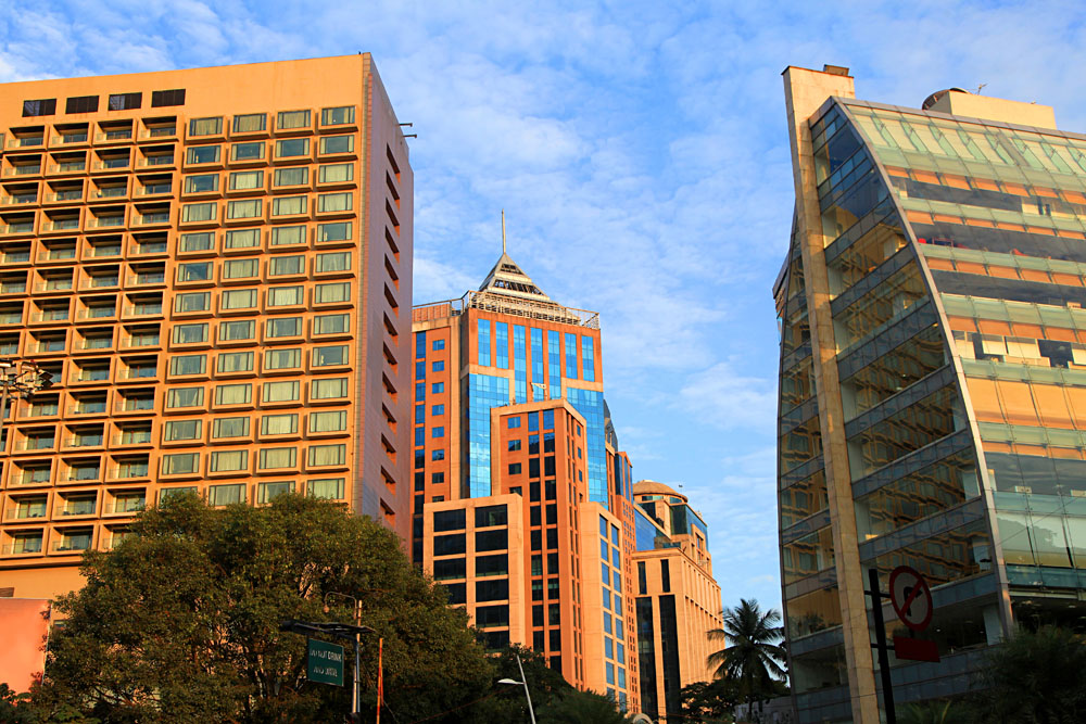 Modern buildings in Bangalore, India