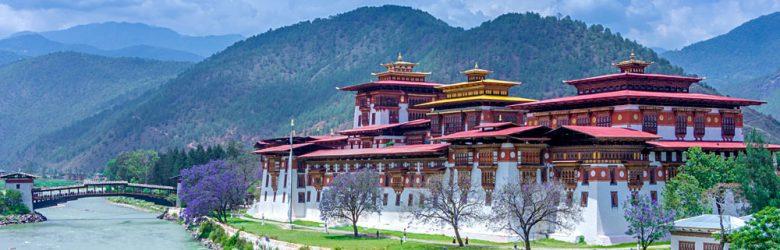 Punakha Dzong also know as Pungtang Dechen Photrang Dzong, Punakha, Bhutan