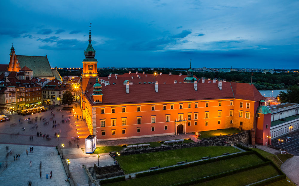 Royal Castle at Night, Warsaw, Poland