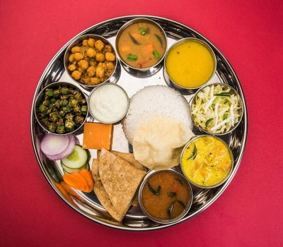 Typical South Indian Vegetarian Thali Meal, India