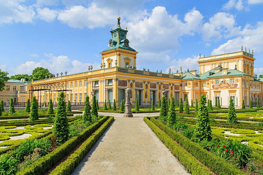 Wilanow Palace and Gardens in Warsaw, Poland