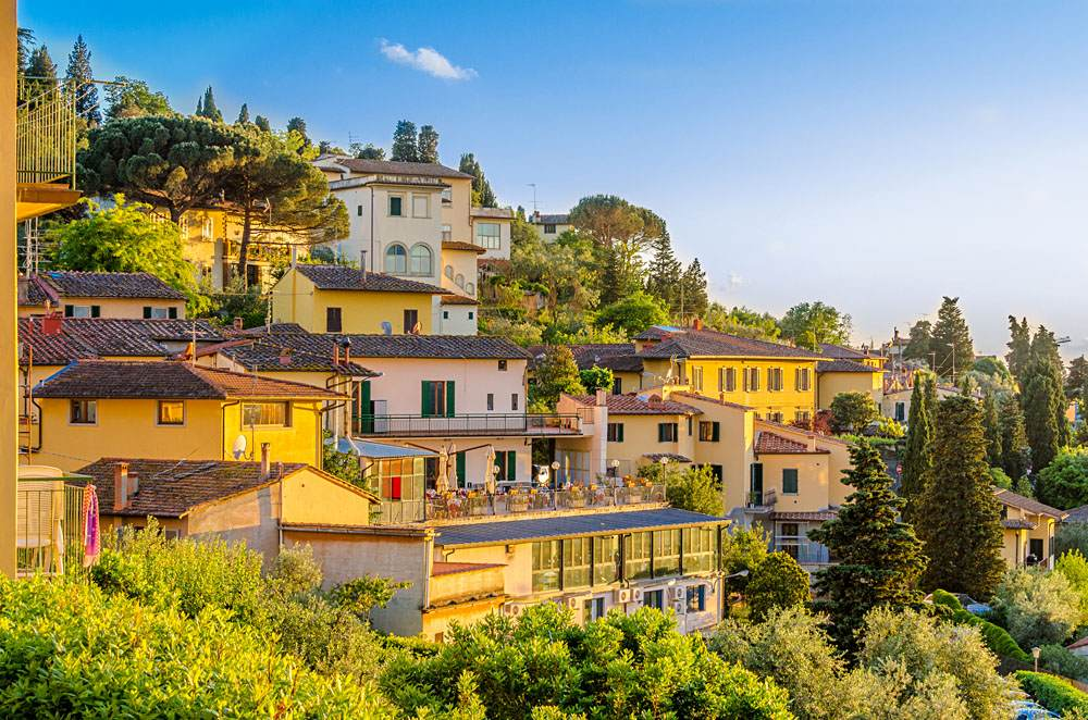 Beautiful view of Fiesole, Florence, Italy
