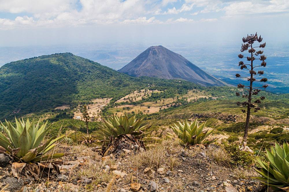 Cerro Verde volcano (left) and Izalco volcano (right) at Cerro Verde National Park, El Salvador