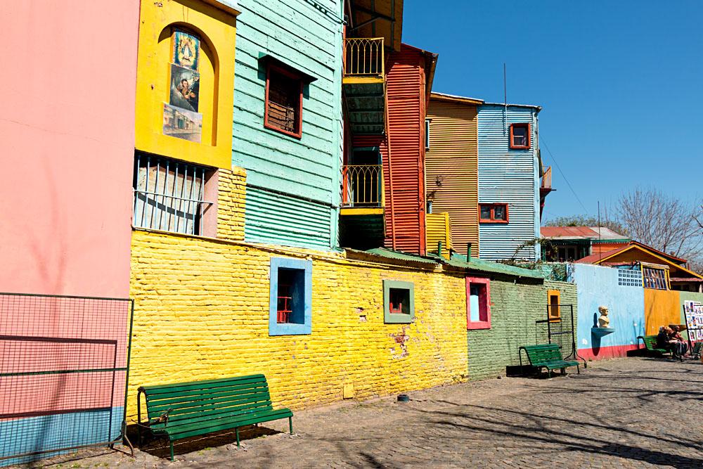 Colourful neighborhood of La Boca, Buenos Aires, Argentina