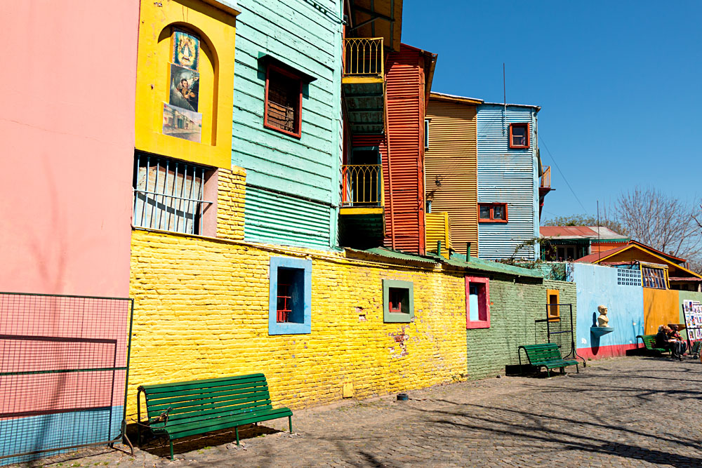 Colourful neighborhood of La Boca, Buenos Aires, Argentina
