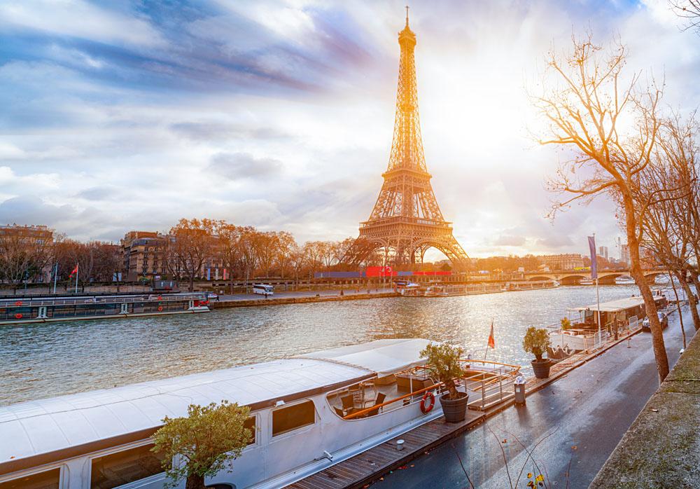 Eiffel Tower at River Seine, Paris, France