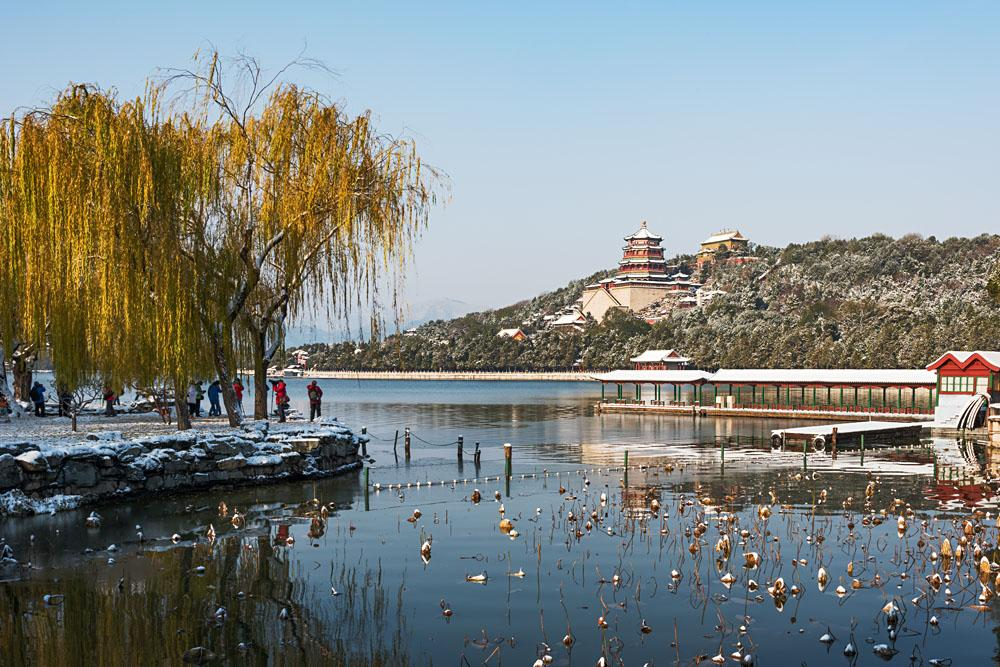 Fallen snow in Summer Palace at Winter, Beijing, China