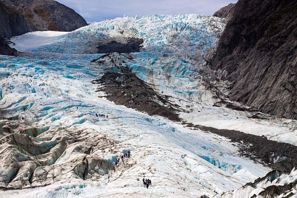 Scenic landscape at Franz Josef Glacier, Southern Alps, West Coast, South Island, New Zealand