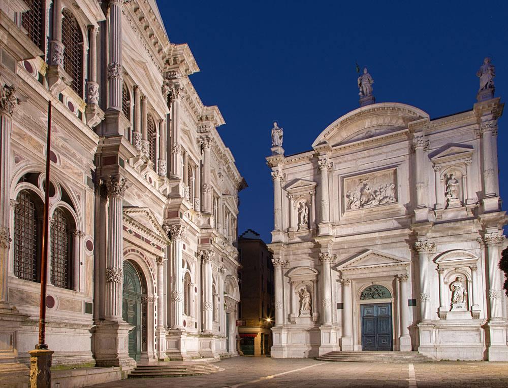 Scuola Grande di San Rocco and church, Venice, Italy