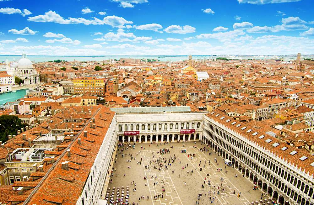 St Mark's Square (Piazza San Marko) in Venice, Italy