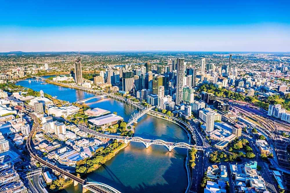 Aerial View of Brisbane, Queensland, Australia