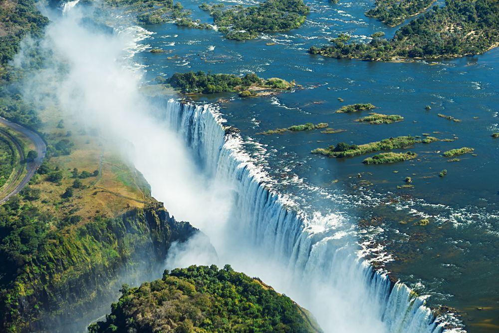 Aerial View of Victoria Falls, Zambia, Zimbabwe