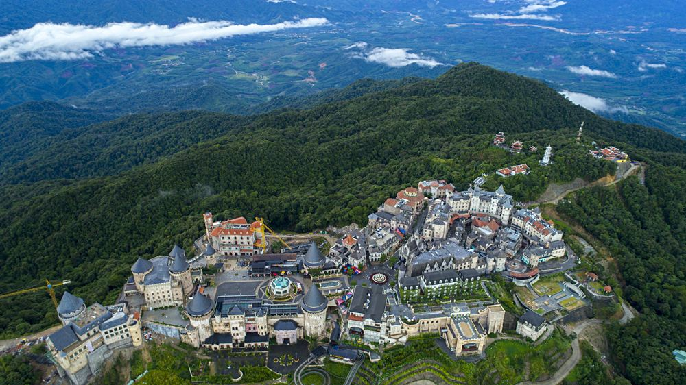 Ba Na Hills on the top of the mountain, Danang, Vietnam