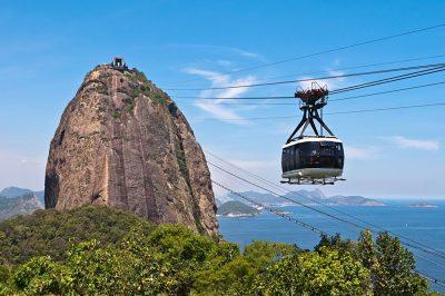 Cable Car to Sugarloaf Mountain in Rio de Janeiro, Brazil