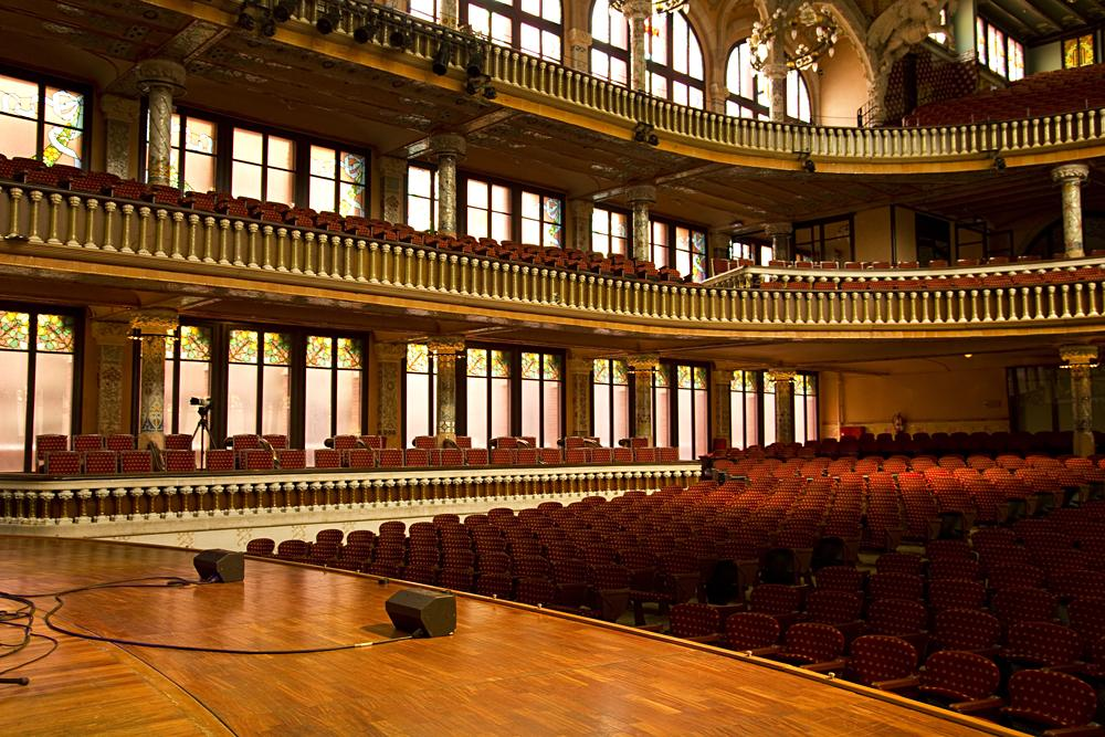 Inside the Palau de la Musica Catalana, Barcelona, Spain