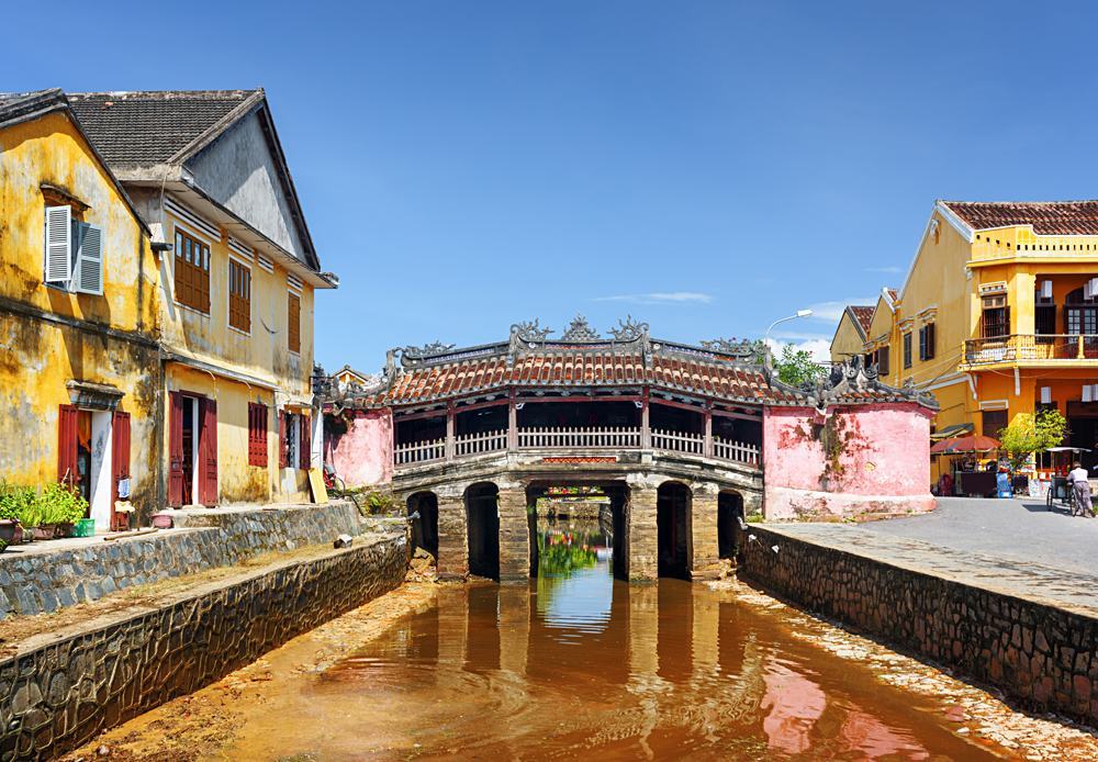 Japanese Covered Bridge in Old Town Hoi An, Vietnam