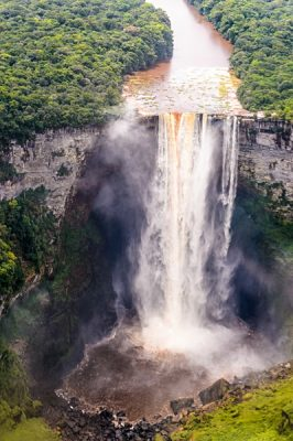 Kaieteur Falls, a waterfall on the Potaro River in central Essequibo Territory, Guyana