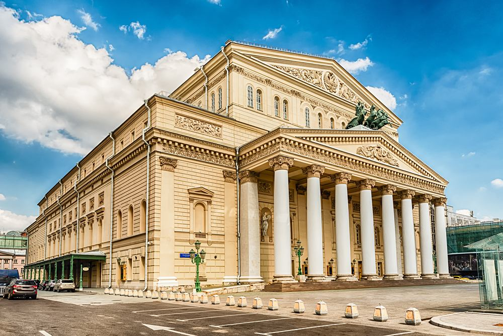 Legendary Bolshoi Theatre, Moscow, Russia