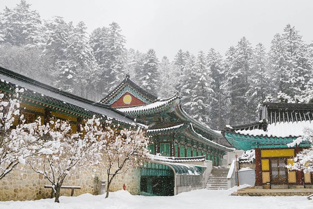 Odaesan Woljeongsa Temple in Pyeongchang, Korea