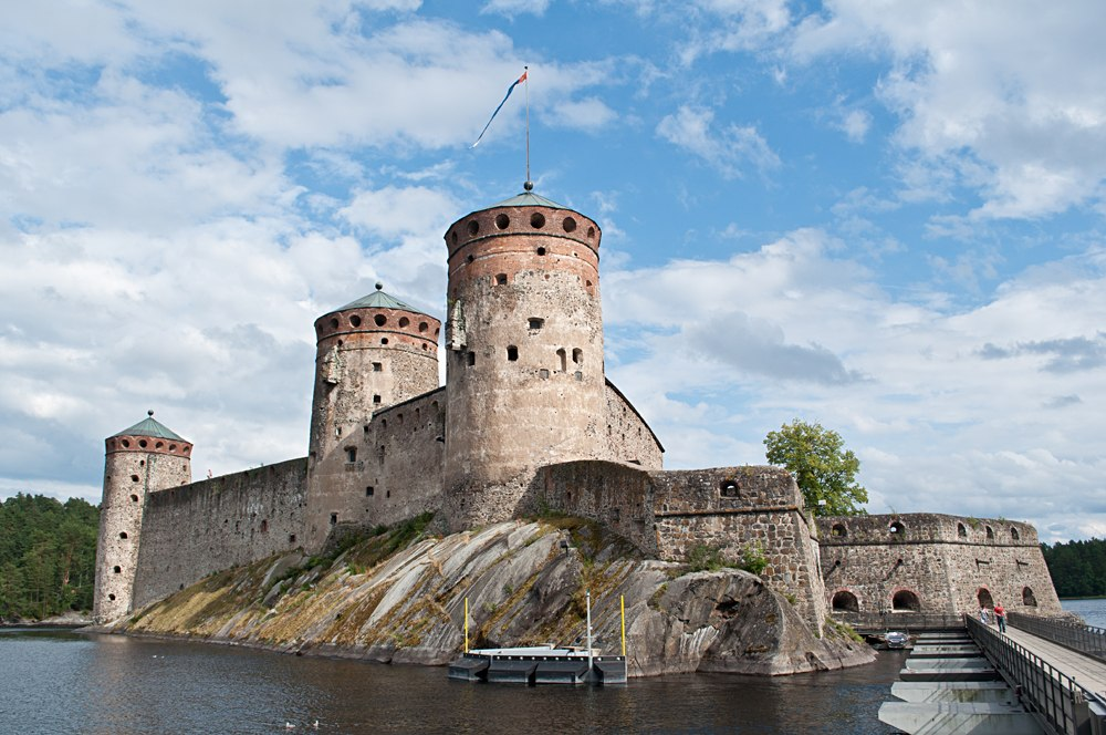 Olavinlinna Castle in Savonlinna city, Finland