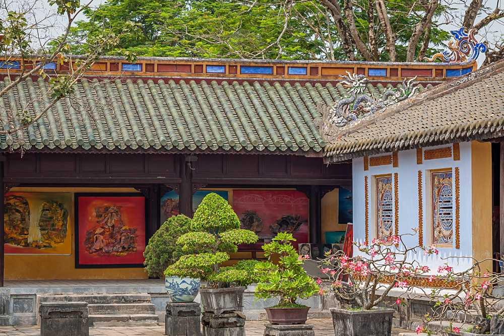 Ornate Details in the Imperial City of Hue, Vietnam