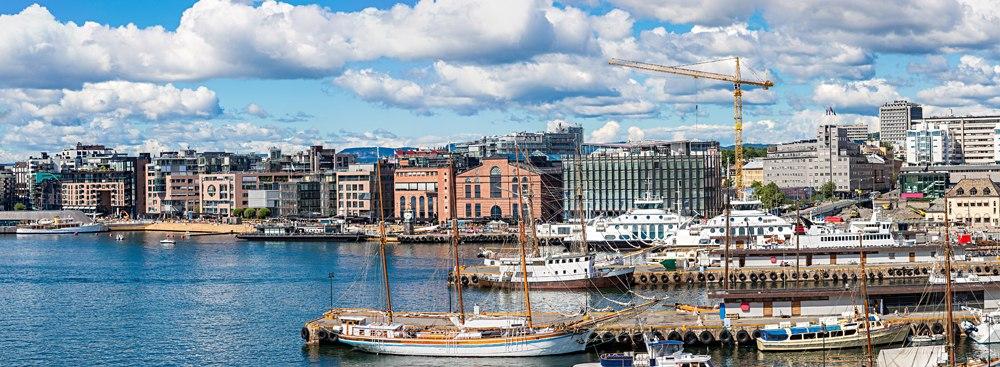 Oslo Harbor on Oslo Fjord, Norway