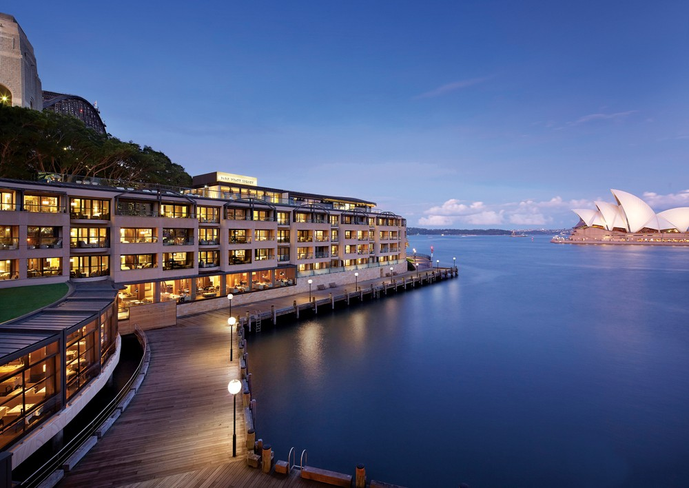 Park Hyatt Sydney with view of Opera House and Bridge, New South Wales, Australia