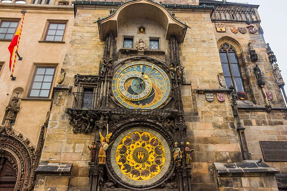 Prague Astronomical Clock in Old Town Square, Prague, Czech Republic