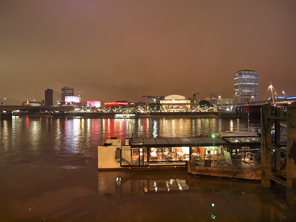 River Thames South Bank with Royal Festival Hall, London, UK (United Kingdom)