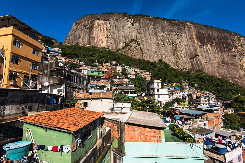 Rocinha in Rio is the largest Favela in Brazil