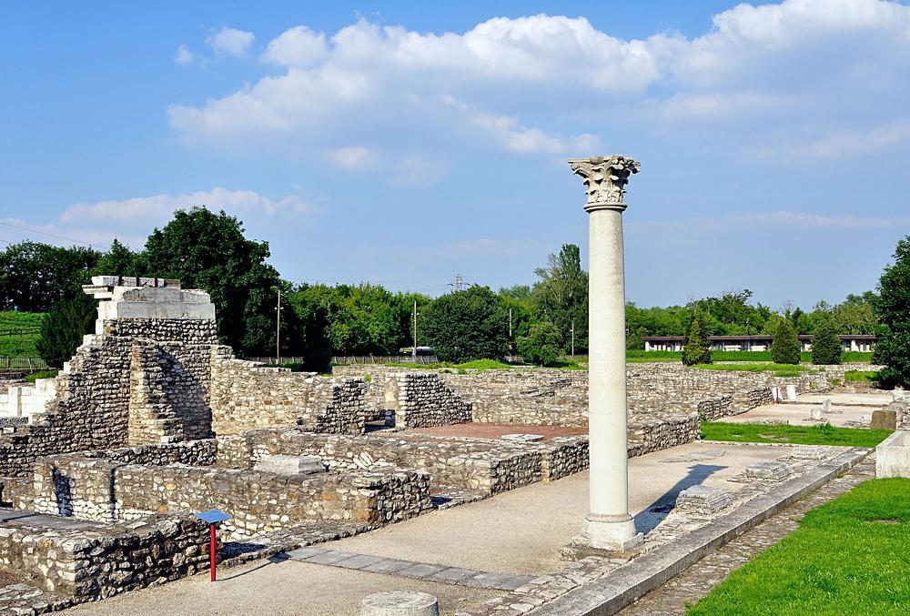 Roman ruins in Aquincum, Budapest, Hungary