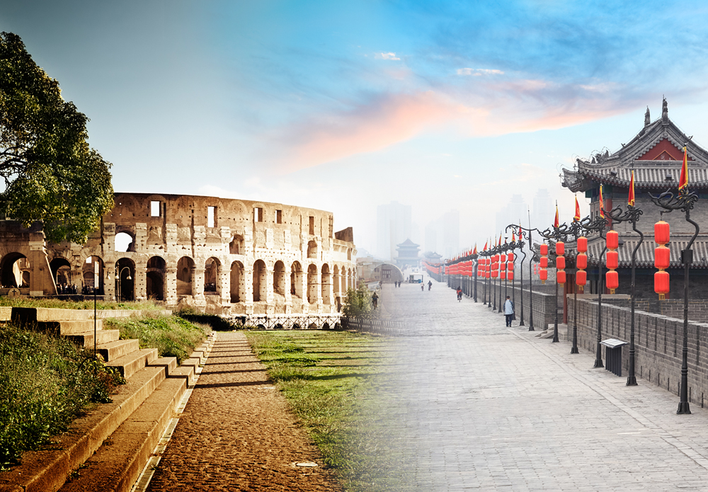 Rome Colosseum and Xian Wall Combo