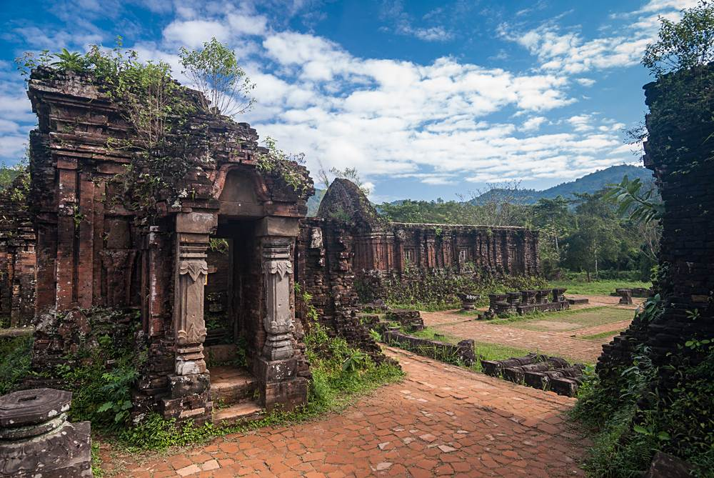 Ruins of Hindu temples at My Son, near Danang, Vietnam