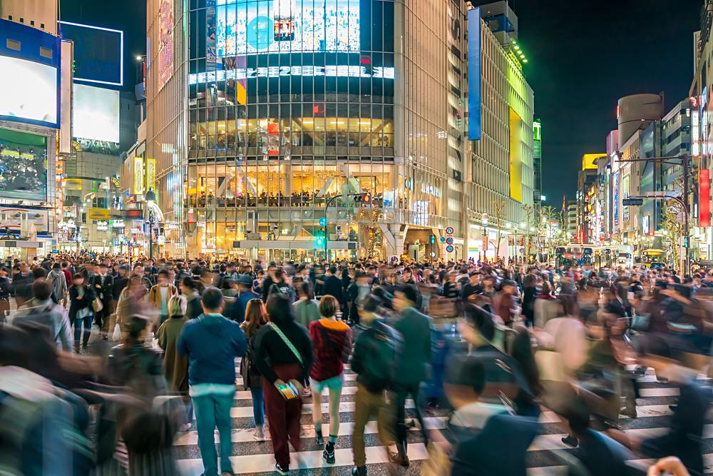 Shibuya Crossing in Shibuya District in Tokyo, Japan