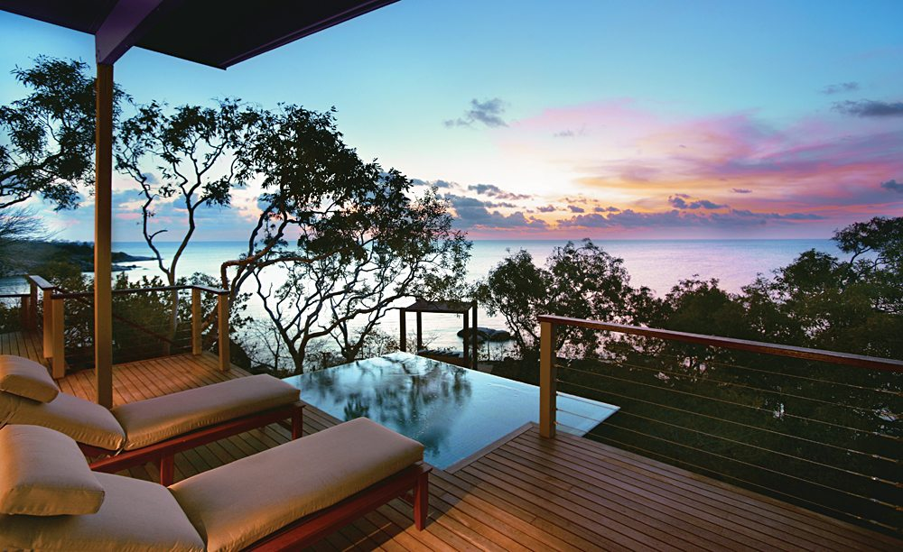 Sunset from your balcony on Lizard island, Queensland, Australia