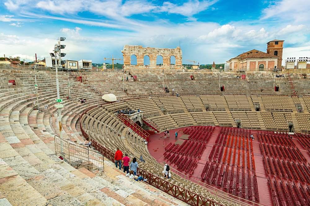 Verona Arena, a Roman amphitheatre, Verona, Italy