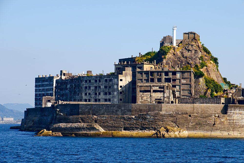 Abandoned Hashima Island, Kyushu Island,Japan