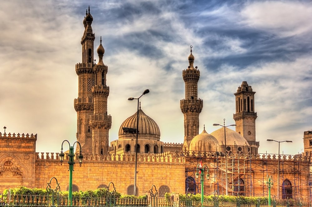 Al-Azhar Mosque in Cairo, Egypt