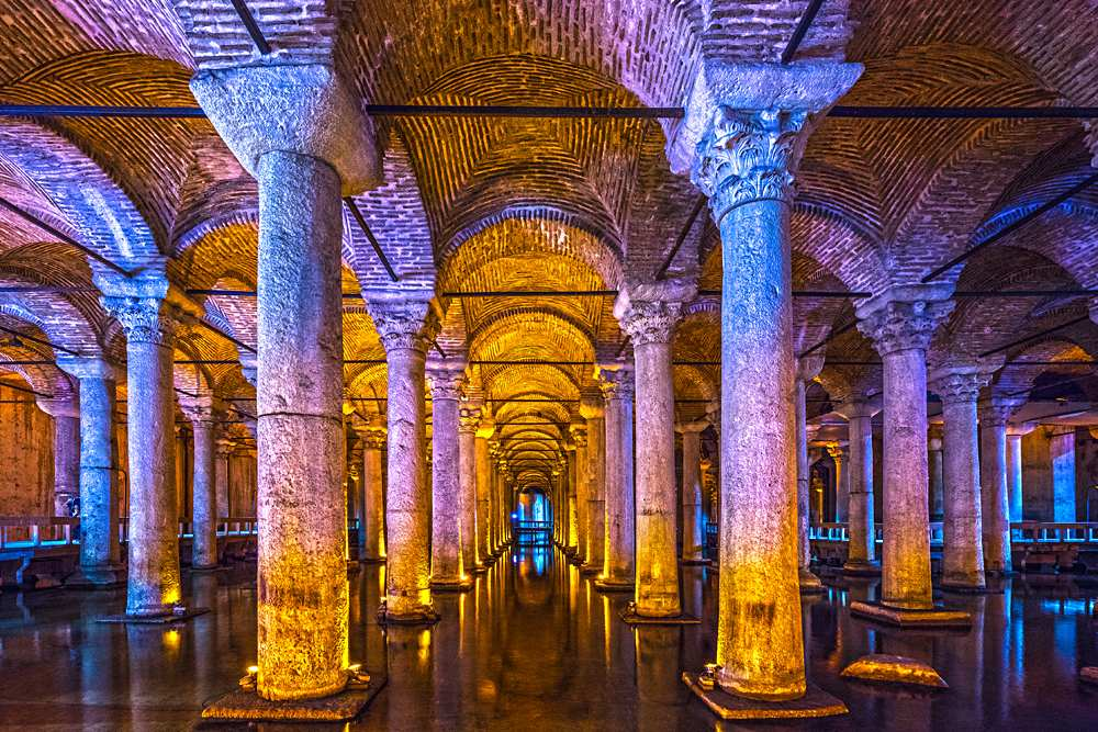 Basilica Cistern, (Yerebatan), Istanbul, Turkey