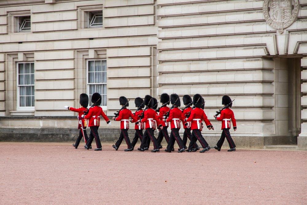 Changing of the Guard at Buckingham Palace, London, UK (United Kingdom)