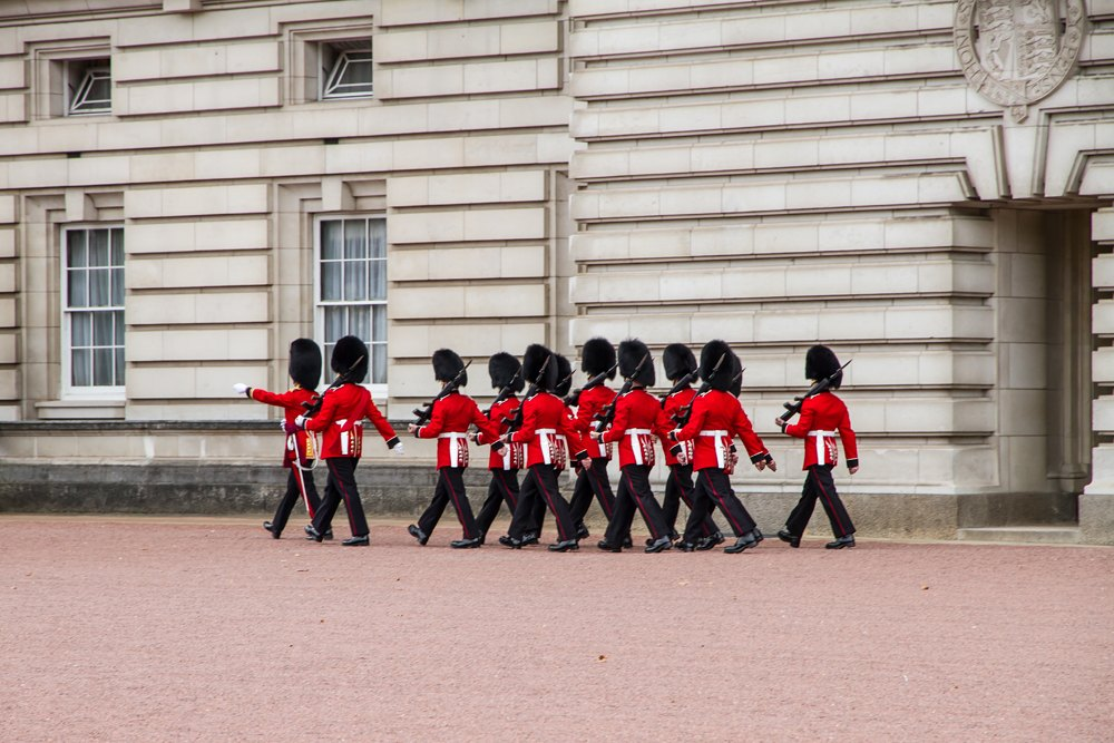 Changing of the Guard at Buckingham Palace, London, UK (United Kingdom)