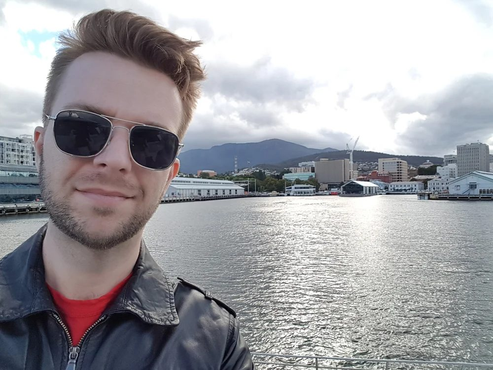 Christian Baines - Chris on the Ferry to MONA, Hobart, Tasmania, Australia