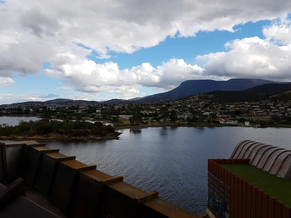 Christian Baines - View of the River Derwent from MONA Rooftop, Hobart, Tasmania, Australia