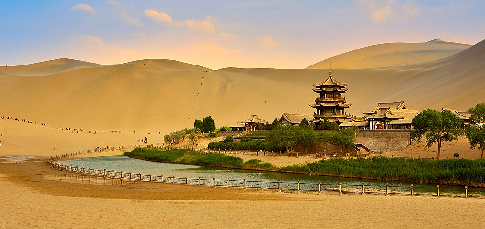 Dunhuang's Crescent Lake, Gansu, China