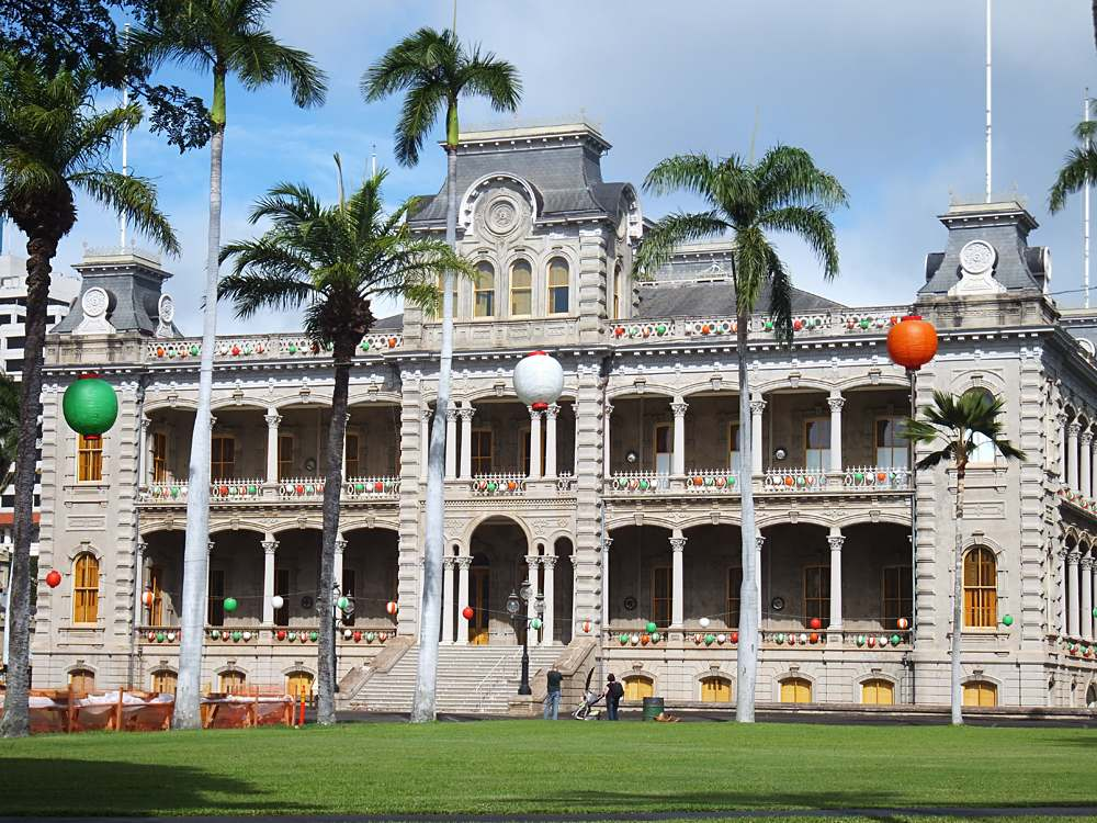 Iolani Palace in Honolulu, Oahu, Hawaii