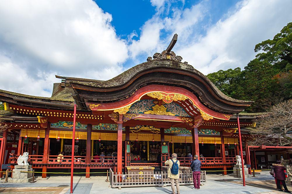 Main hall of Dazaifu Tenmangu Shrine in Dazaifu, Fukuoka, Kyushu, Japan