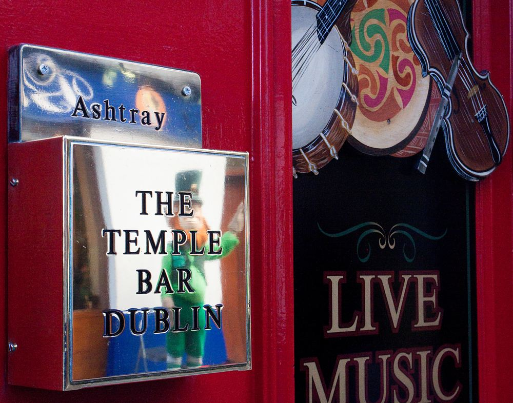Outside The Temple Bar in Dublin, Ireland