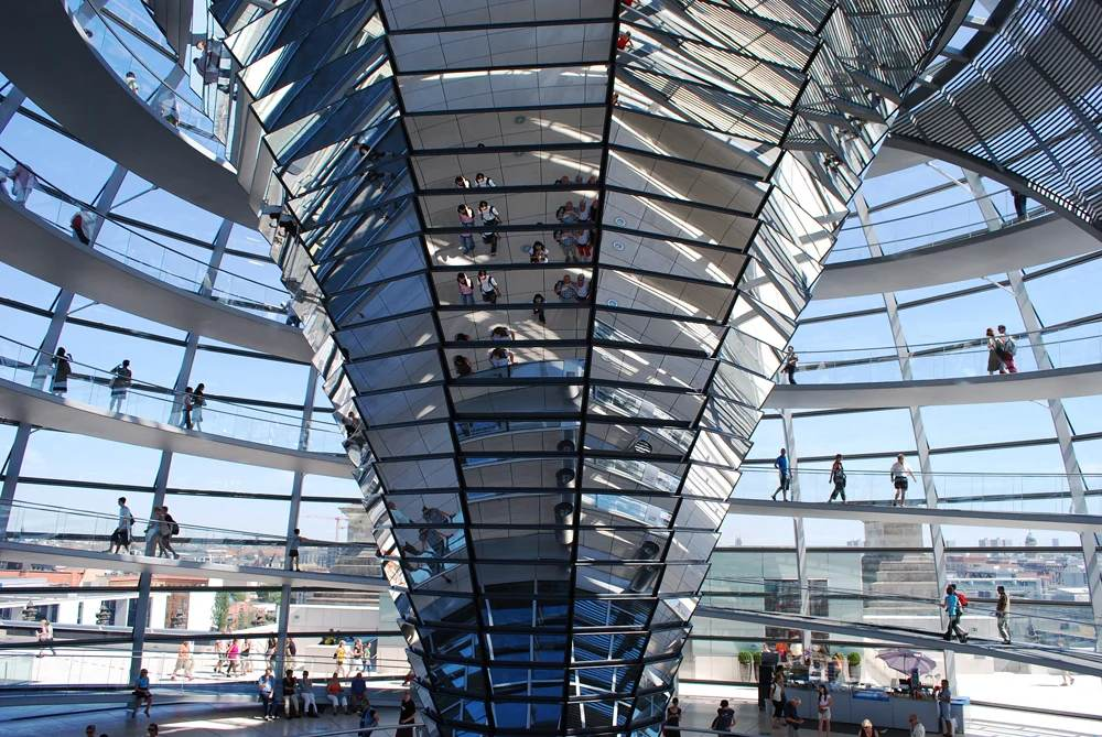 Reichstag inside view, Berlin, Germany