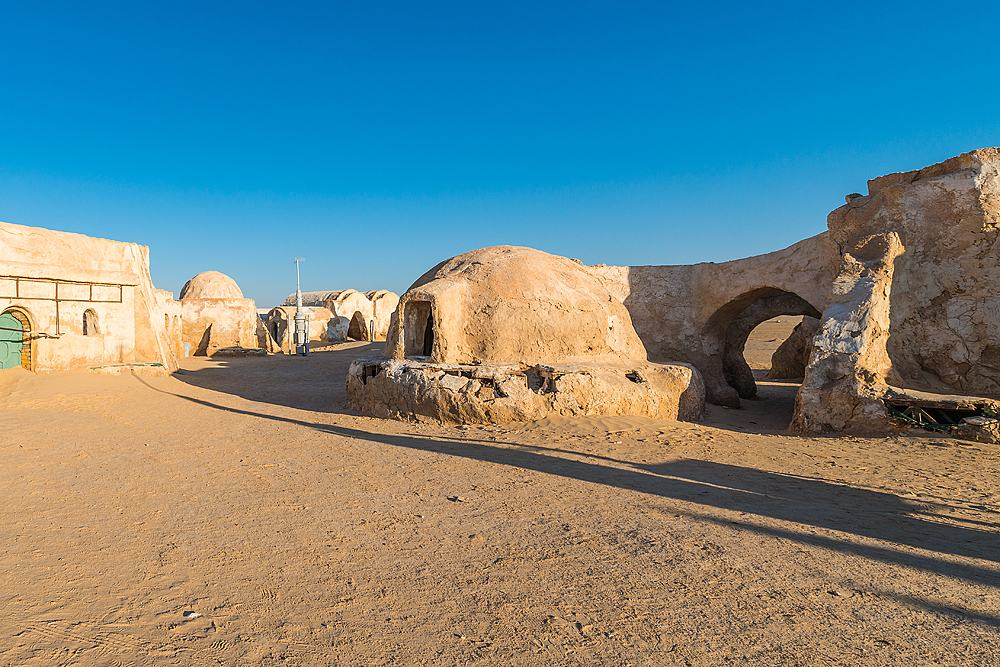 Star Wars Mos Espa set, built in the middle of the desert, Tozeur, Tunisia